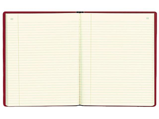 Rediform 57231 Red Vinyl Series Journal, 300 Pages, 7 3/4 x 10 Sheets, 8 1/4 x 10 1/2 Book, Red