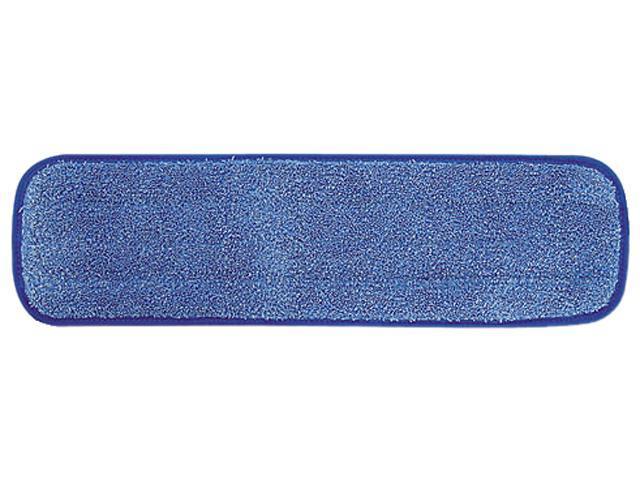 Rubbermaid Commercial Q41000BLU Microfiber Wet Room Pad, Split Nylon/Polyester Blend, 18