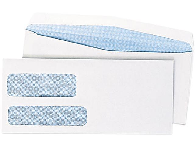 Double Window Security Tinted Envelope Gummed Flap #10 White 500/Box