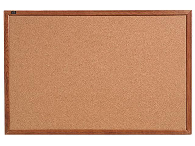 Quartet 85223 Cork Bulletin Board, 36 x 24, Oak Frame