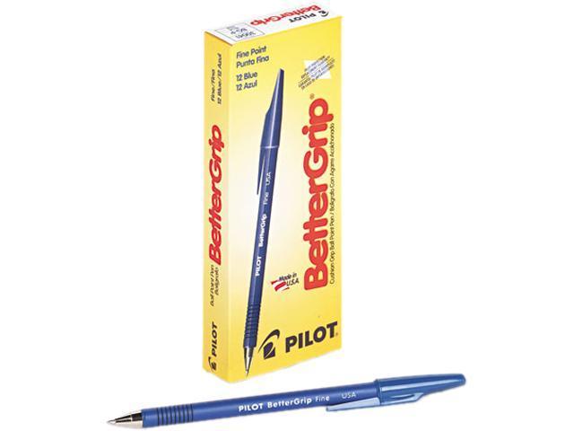 Pilot 30041 BetterGrip Ballpoint Stick Pen, Blue Ink, Fine, Dozen