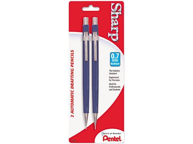 Pentel P207BP2-K6 Sharp Mechanical Drafting Pencil, 0.70 mm, Blue Barrel, 2/Pk