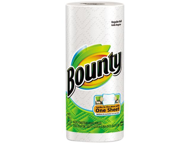 Procter & Gamble 28838 Bounty Perforated Paper Towels, 9 x 10 2/5, White, 52 Sheets/Roll