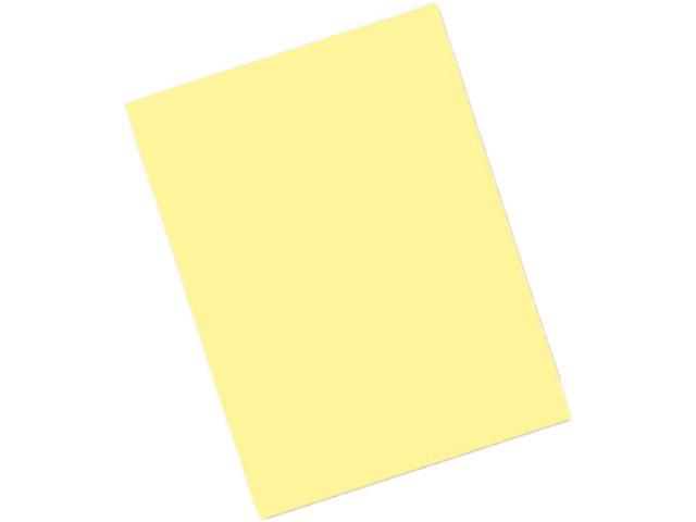 Pacon 103966 Riverside Construction Paper, 76 lbs., 9 x 12, Light Yellow, 50 Sheets/Pack