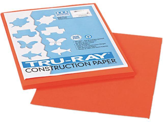 Pacon 103424 Tru-Ray Construction Paper, 76 lbs., 9 x 12, Pumpkin, 50 Sheets/Pack