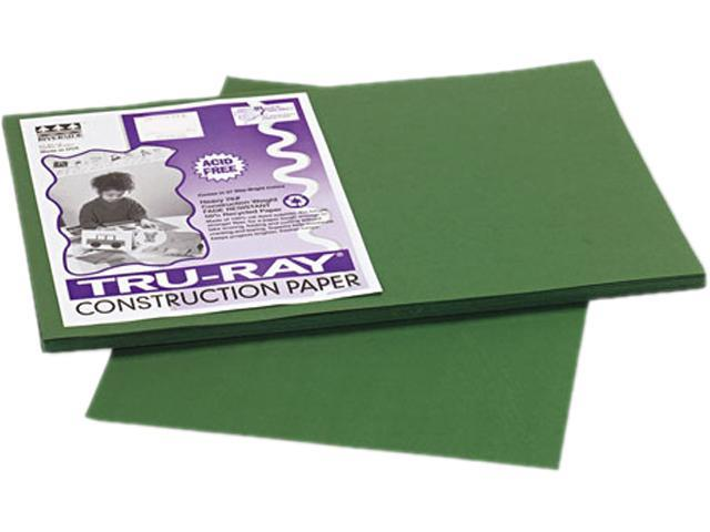 Pacon 103053 Tru-Ray Construction Paper, 76 lbs., 12 x 18, Dark Green, 50 Sheets/Pack