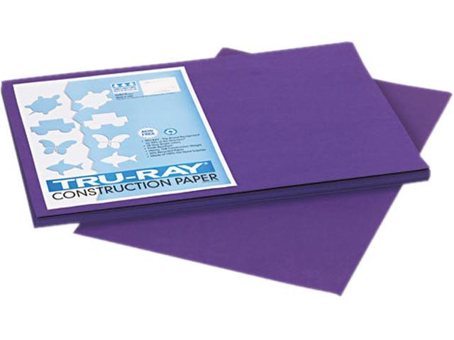 Pacon 103051 Tru-Ray Construction Paper, 76 lbs., 12 x 18, Purple, 50 Sheets/Pack