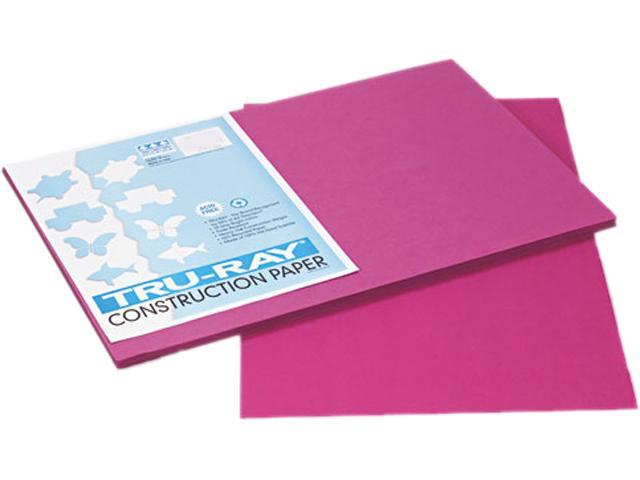 Pacon 103032 Tru-Ray Construction Paper, 76 lbs., 12 x 18, Magenta, 50 Sheets/Pack