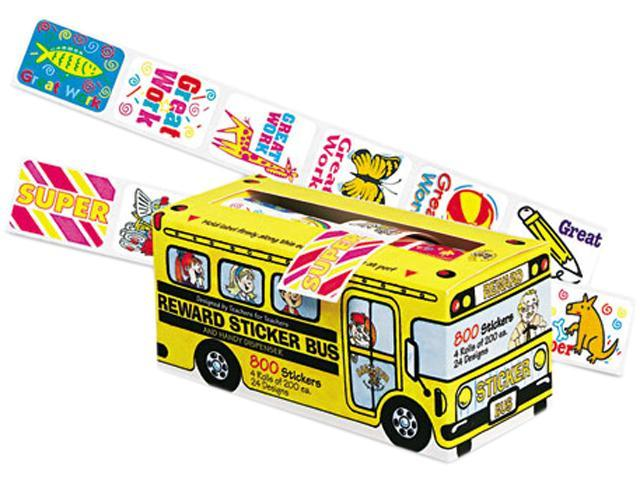 Pacon 0051450 Big School Bus Reward Stickers, Assorted Designs, 800 Stickers, 6/Pack