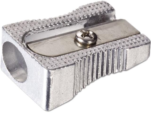 Officemate 30218 Metal Pencil Sharpener, Metallic Silver, 4/Pack