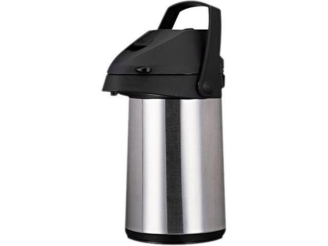 Coffee Pro CPAP22 Direct Brew/Serve Insulated Airpot with Carry Handle, 2.2 L, Stainless Steel