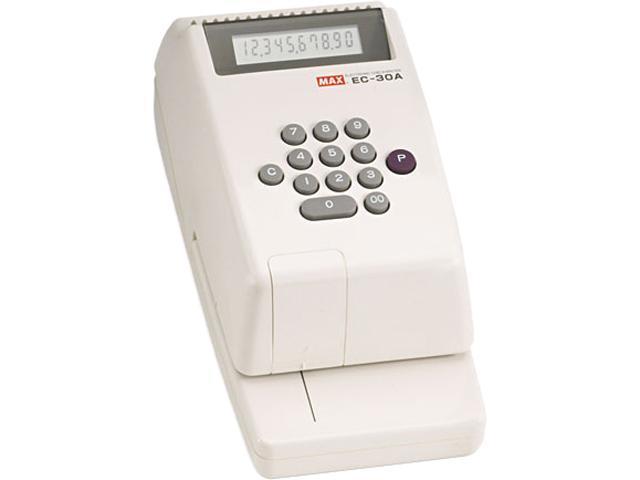 Max EC-30A Electronic Checkwriter, 10-Digit, 4-3/8 x 9-1/8 x 3-3/4