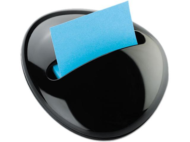 Post-it Pop-up Notes PBL330BK Pebble Notes Dispenser for 3 x 3 Pads, Black