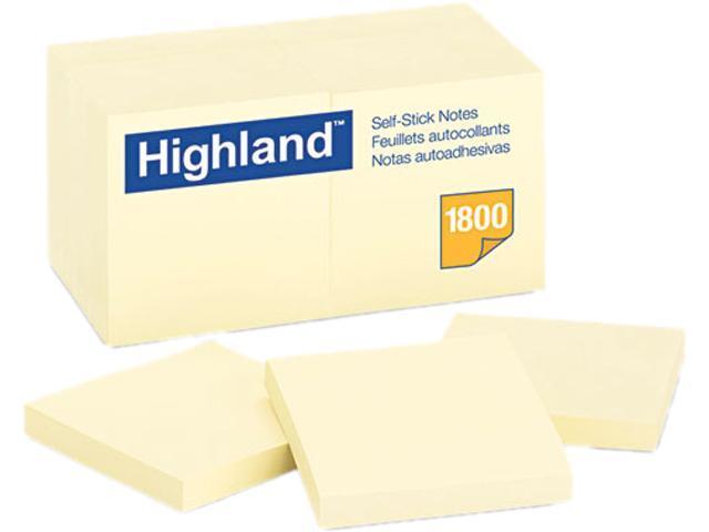 Post-it 6549-18PK Memo Pad, 3 x 3, Yellow, 18 100-Sheet Pads/Pack