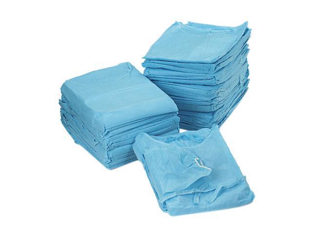 Impact 1540 Isolation Gown, Spun-Bonded Polypropylene, Blue, 50/Carton