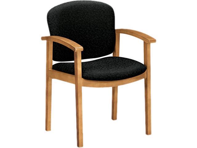 HON 2111CBE11 2111 Invitation Series Wood Guest Chair, Raven Fabric/Harvest
