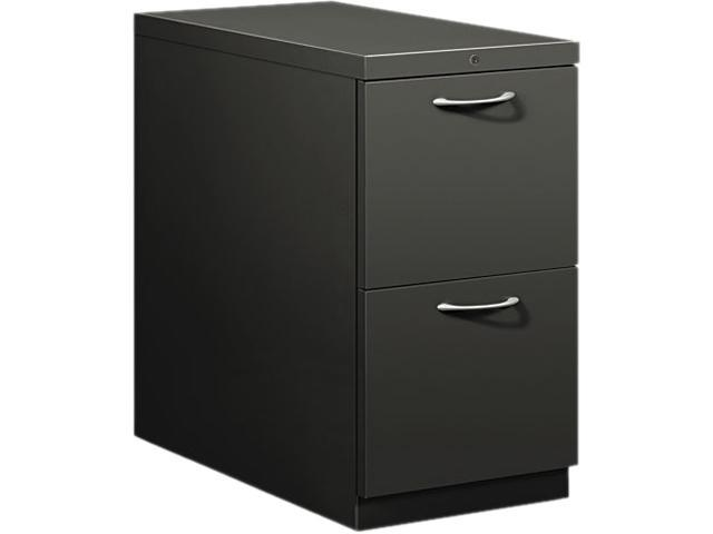 HON 18830AS Flagship Mobile File/File Pedestal, Arch Pull, 28-7/8d, Charcoal