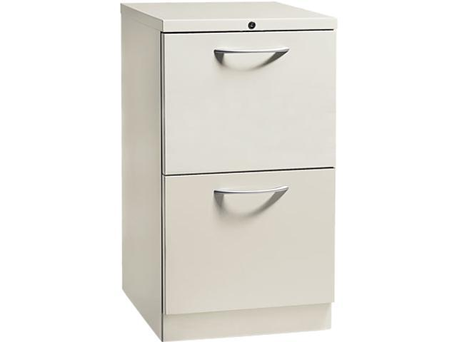 HON 18820AQ Flagship Mobile File/File Pedestal, Arch Pull, 19-7/8d, Light Gray