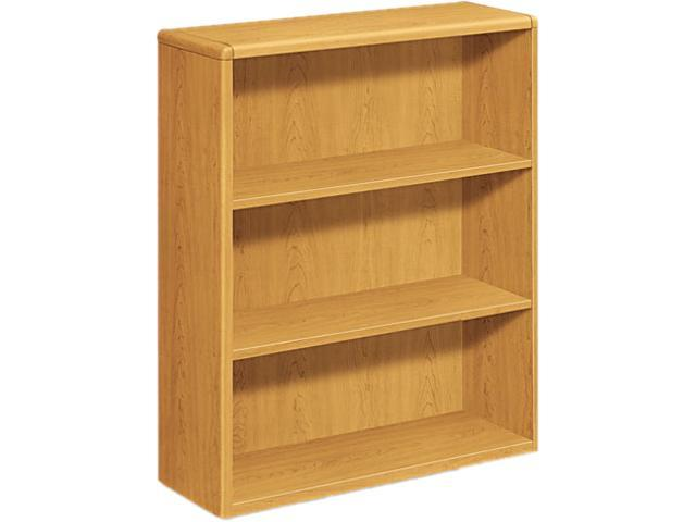 HON 10753C 10700 Series Bookcase, 3 Shelves, 36w x 13-1/8d x 43-3/8h, Harvest