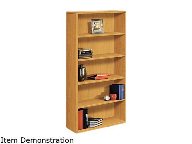 HON 105535CC 10500 Series Bookcase, 5 Shelves, 36w x 13-1/8d x 71h, Harvest