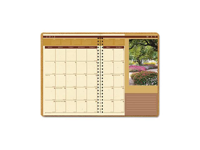 House of Doolittle 524 Landscapes Full-Color Monthly Planner, Ruled, 8-1/2 x 11, Brown