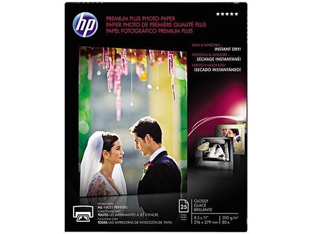 Hewlett-Packard CR670A Premium Plus Photo Paper, 80 lbs., Glossy, 8-1/2 x 11, 25 Sheets/Pack