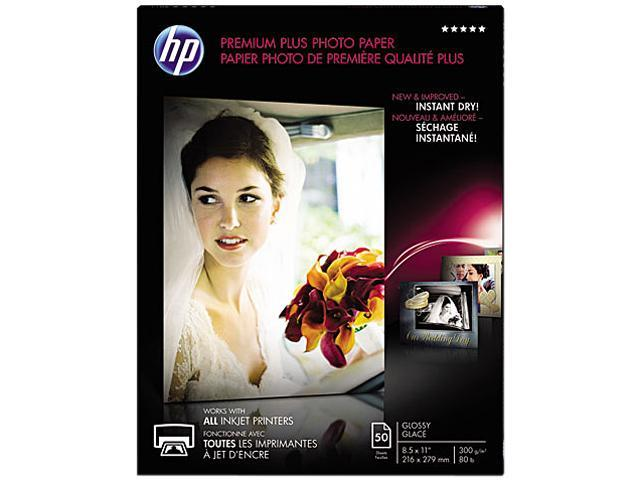 Hewlett-Packard CR664A Premium Plus Photo Paper, 80 lbs., Glossy, 8-1/2 x 11, 50 Sheets/Pack