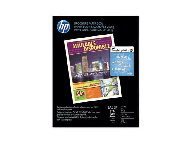 Hewlett-Packard CH034A Color Laser Photo Paper, 52 lbs., Matte, 8-1/2 x 11, 250 Sheets/Pack