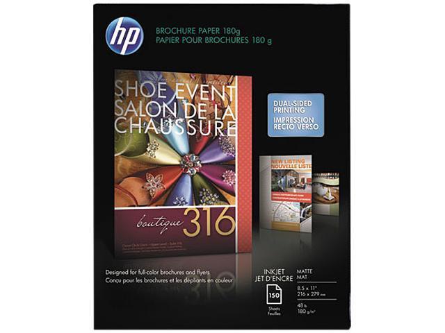 Hewlett-Packard CH016A Inkjet Brochure/Flyer Paper, 103 Brightness, 48lb, 8-1/2 x 11, White, 150/Pack