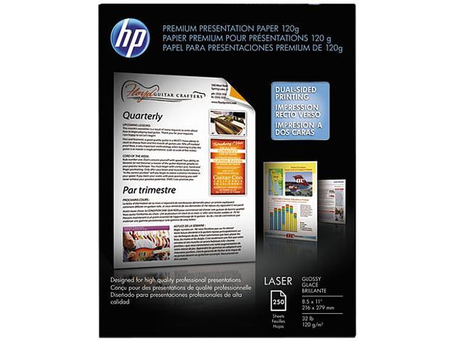 Hewlett-Packard CG988A Color Laser Presentation Paper, 97 Brightness, 32lb, 8-1/2 x 11, White, 250/Pack