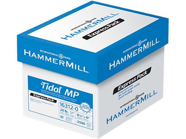 Hammermill 16312-0 Tidal MP Paper Express Pack, 92 Brightness, 20lb, 8-1/2x11, White, 2500/Carton