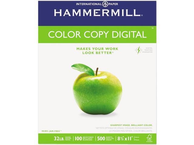 Hammermill 10263-0 Color Copy Paper, 98 Brightness, 32lb, 8-1/2 x 11, Photo White, 500/Ream