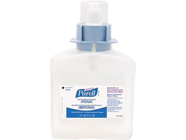 PURELL 5192-03 FMX-12 Foam Instant Hand Sanitizer Refill, w/Moisturizers, 1200-ml