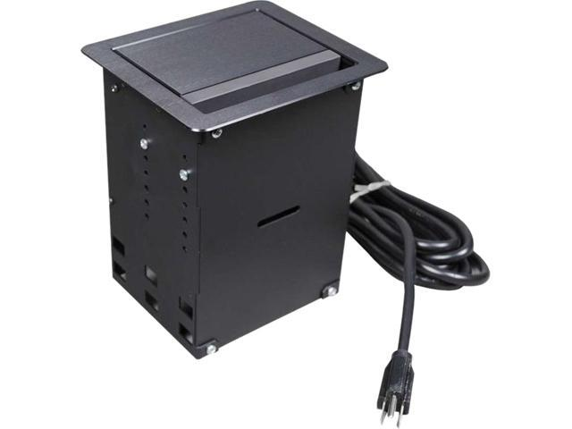 C2G Wiremold InteGreat[TM] A/V Table Box Black