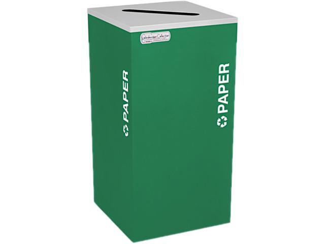 Ex-Cell RC-KDSQ-PEGX Kaleidoscope Collection Recycling Receptacle, 24 gal, Emerald Green
