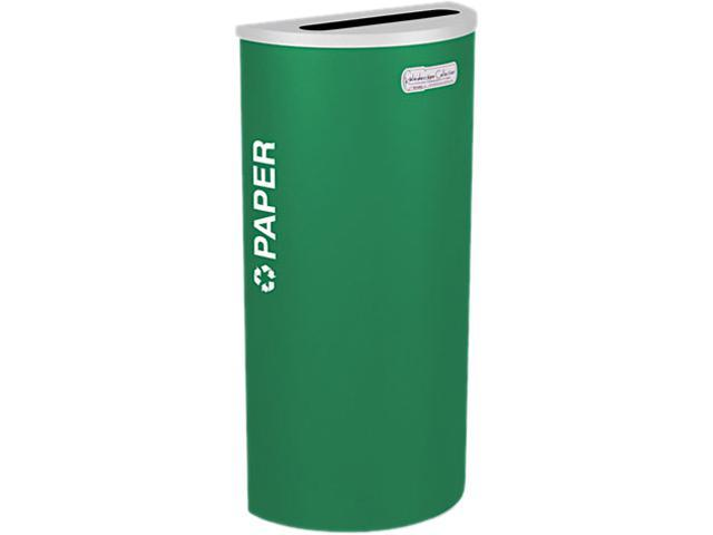 Ex-Cell RC-KDHR-PEGX Kaleidoscope Collection Recycling Receptacle, 8 gal, Emerald Green