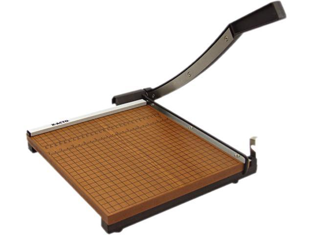 "X-ACTO 26612 Wood Base Guillotine Trimmer, 12 Sheets, Wood Base, 12"" x 12"""