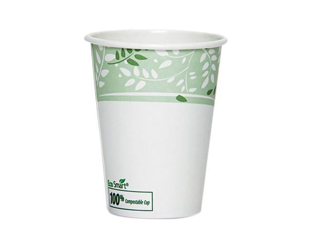 Dixie 2342PLA-PK EcoSmart Hot Cups, PLA Lined Paper, Viridian, 12 oz., 50/Pack