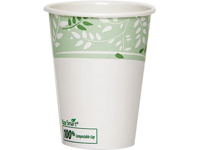 Dixie 2342PLA EcoSmart Hot Cups, PLA Lined Paper, Viridian, 12 oz., 1000/Carton