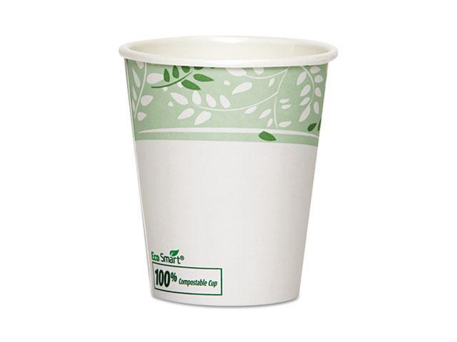 Dixie 2340PLA EcoSmart Hot Cups, PLA Lined Paper, Viridian, 10 oz., 1000/Carton