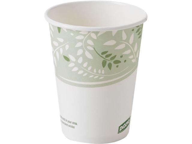 Dixie 2338PLA-PK EcoSmart Hot Cups, PLA Lined Paper, Viridian, 8 oz., 50/Pack