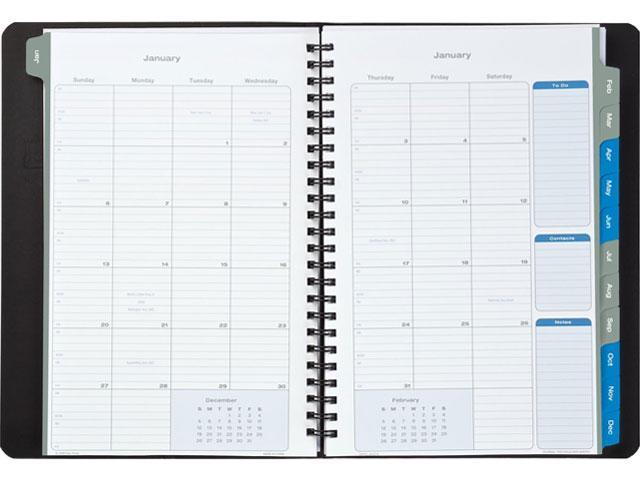 Day-Timer 45215-1201 Essentials Monthly Planner, 5-1/2 x 8-1/2, Blue