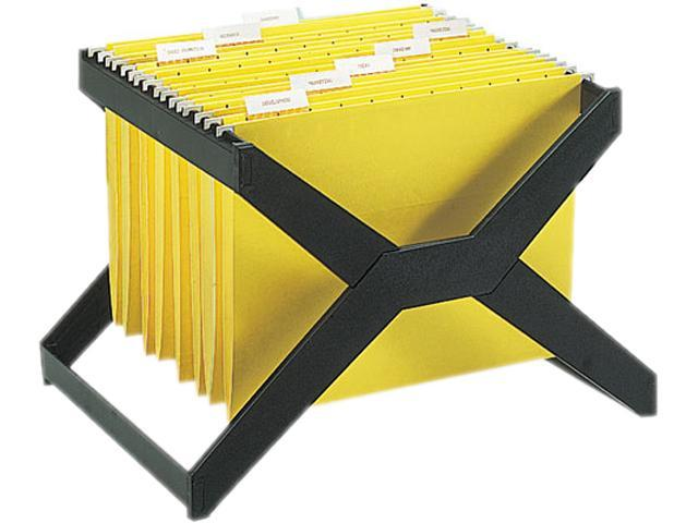 Deflect-o XR206 X-Rack Letter/Legal Size Hanging File, Plastic, 16 x 12 x 11, Black