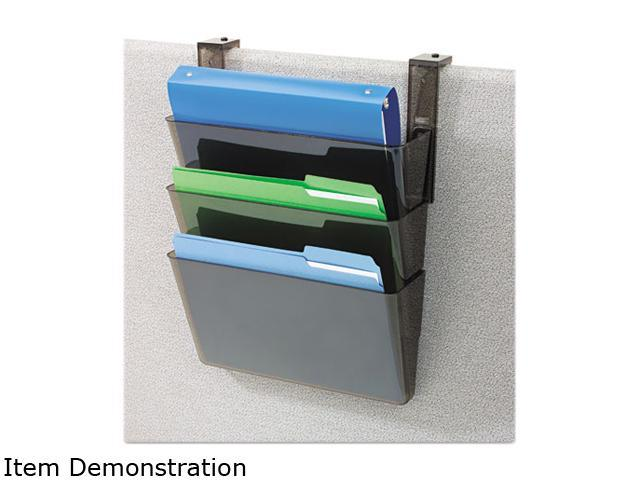 Deflect-o 73502RT 3 Pocket File Partition Set with Brackets, Letter, Smoke