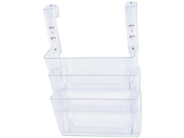 Deflect-o 73501RT 3 Pocket File Partition Set with Brackets, Letter, Clear