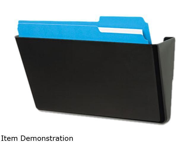 Deflect-o 73204 DocuPocket Stackable Wall Pocket, Plastic, Letter, 13 x 4 x 7, Black