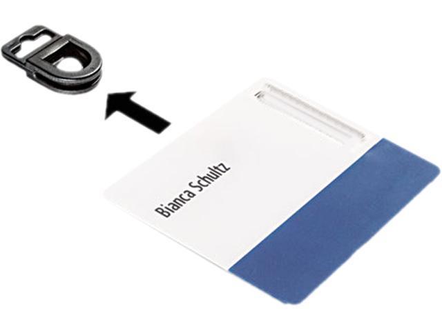 Durable 8188-01 CARD FIX Card Holder, Black, 50/Box