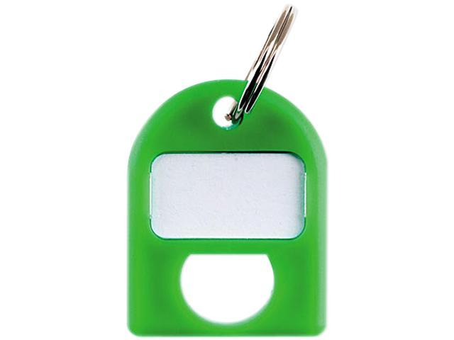 CARL 80088 Replacement Key Tags, 3/4 x 1, Green, 8/Pack