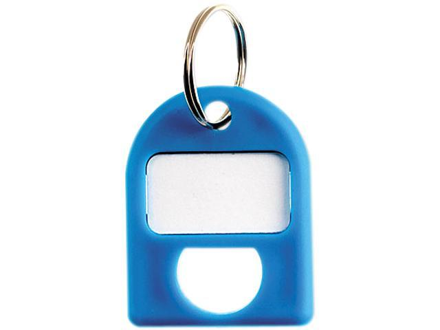 CARL 80068 Replacement Key Tags, 3/4 x 1, Blue, 8/Pack