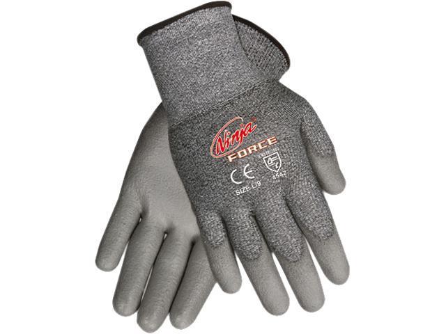 Memphis N9677M Ninja Force Polyurethane Coated Gloves, Medium, Gray